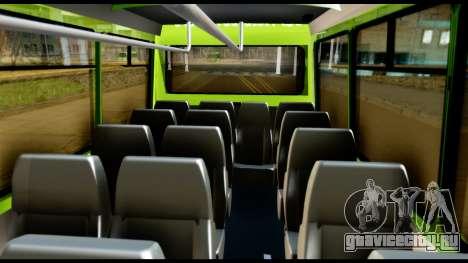 Iveco Minibus для GTA San Andreas вид изнутри