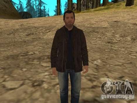 Майкл из GTA 5 в кожаной куртке для GTA San Andreas