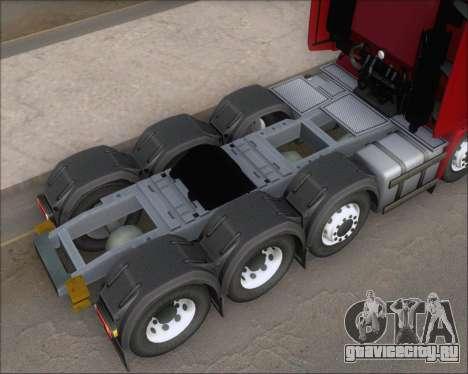 Iveco Stralis HiWay 8x4 для GTA San Andreas вид сверху