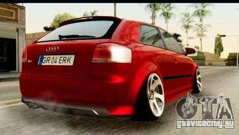 Audi S3 2007 Camber Edit для GTA San Andreas вид слева