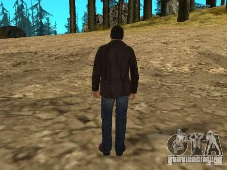 Майкл из GTA 5 в кожаной куртке для GTA San Andreas третий скриншот