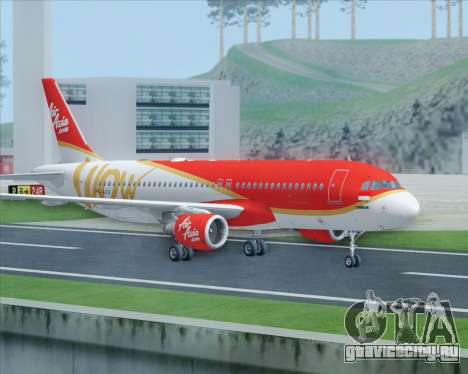 Airbus A320-200 Indonesia AirAsia WOW Livery для GTA San Andreas вид справа