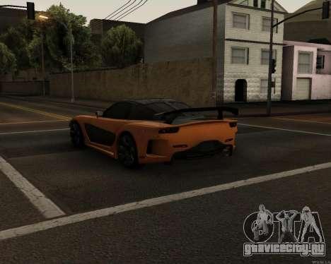 Mazda RX-7 VeilSide Drift для GTA San Andreas вид сзади слева
