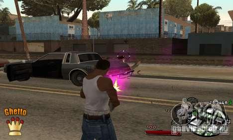 C-HUD Ghetto King для GTA San Andreas второй скриншот