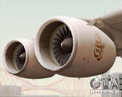 Airbus A380-800 Emirates (A6-EDJ) для GTA San Andreas вид сверху