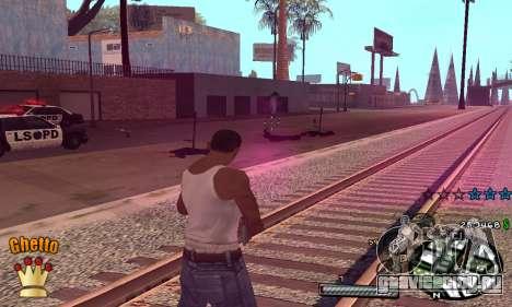C-HUD Ghetto King для GTA San Andreas третий скриншот