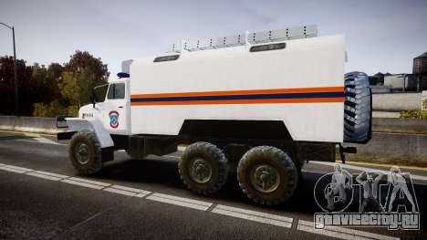 Урал 4320 МЧС для GTA 4 вид слева