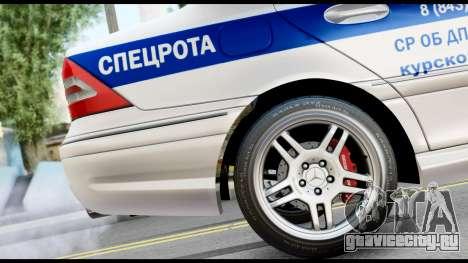 Mercedes-Benz C32 AMG ДПС для GTA San Andreas вид справа