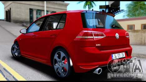 Volkswagen Golf GTI 2015 для GTA San Andreas вид сзади слева