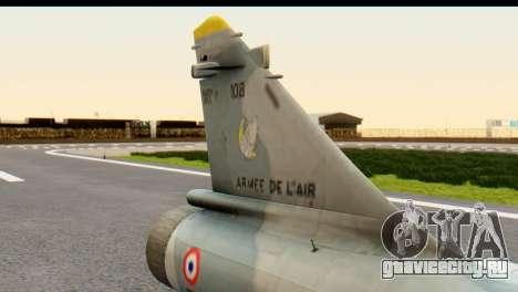 Dassault Mirage 2000-5 для GTA San Andreas вид справа