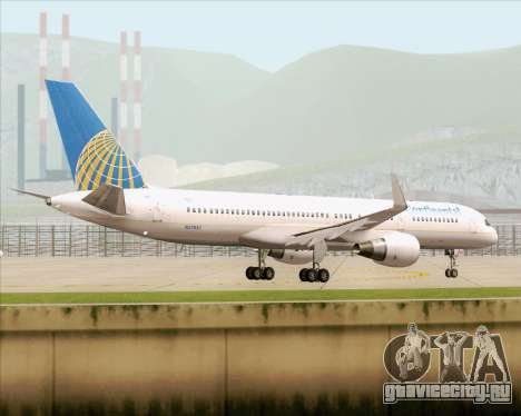 Boeing 757-200 Continental Airlines для GTA San Andreas вид сбоку