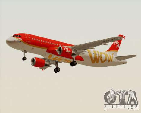 Airbus A320-200 Indonesia AirAsia WOW Livery для GTA San Andreas вид слева