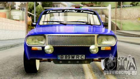 Dacia 1300 B 89 WRC для GTA San Andreas вид сзади