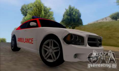 Dodgle Charger Ambulance для GTA San Andreas