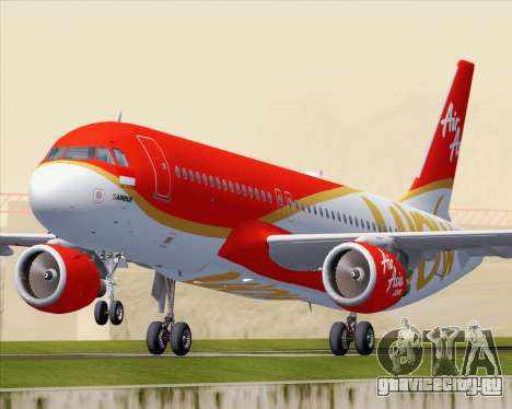 Airbus A320-200 Indonesia AirAsia WOW Livery для GTA San Andreas