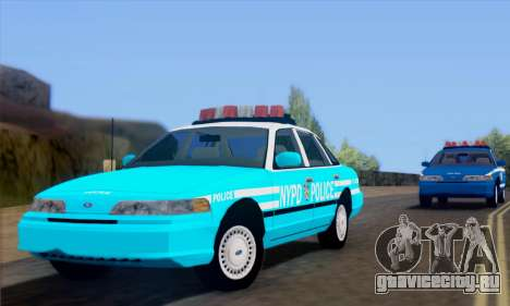 Ford Crown Victoria NYPD Blue для GTA San Andreas вид сзади слева