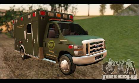 Ford E450 Ambulance SANG Tactical Rescue для GTA San Andreas