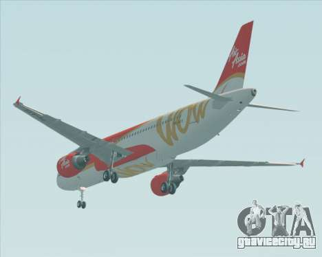 Airbus A320-200 Indonesia AirAsia WOW Livery для GTA San Andreas вид сзади
