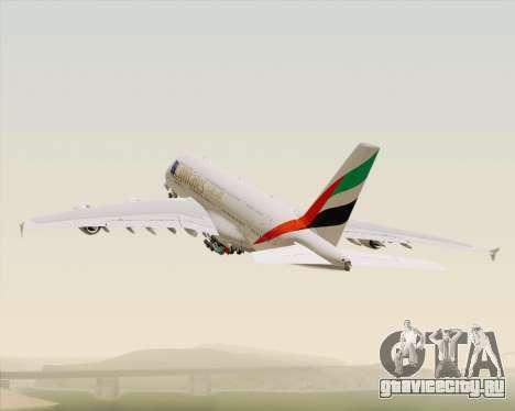 Airbus A380-800 Emirates (A6-EDJ) для GTA San Andreas вид снизу