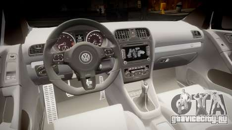 Volkswagen Golf R для GTA 4 вид сзади