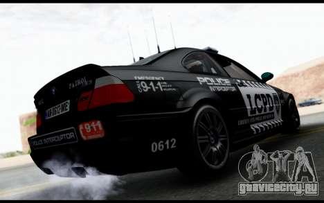 BMW M3 E46 Police для GTA San Andreas