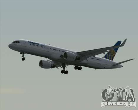 Boeing 757-200 Continental Airlines для GTA San Andreas вид сзади