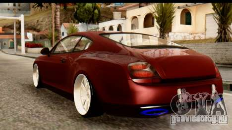 Bentley Continental VIP Stance Style для GTA San Andreas вид сзади слева
