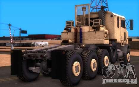 Oshkosh M1070 HET Tank Transporter для GTA San Andreas вид слева