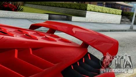 GTA 5 Pegassi Zentorno для GTA San Andreas вид сзади слева