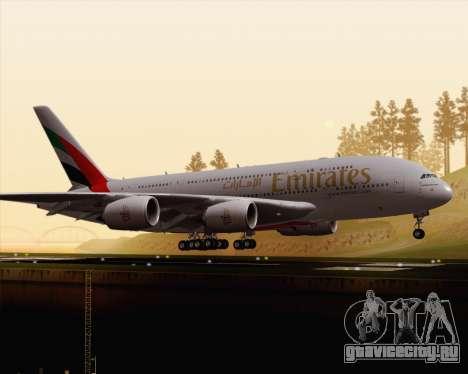 Airbus A380-800 Emirates (A6-EDJ) для GTA San Andreas вид слева