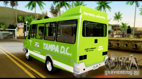 Iveco Minibus для GTA San Andreas вид сзади слева