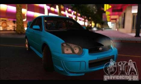 Subaru Impreza WRX STI Tuning для GTA San Andreas