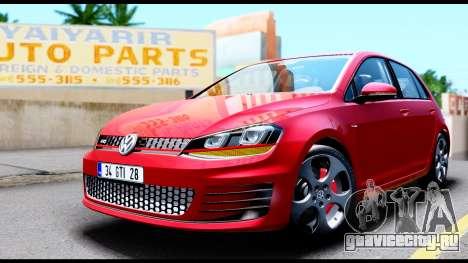 Volkswagen Golf GTI 2015 для GTA San Andreas вид справа
