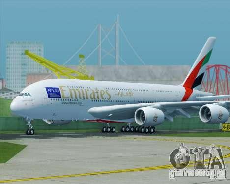 Airbus A380-800 Emirates (A6-EDJ) для GTA San Andreas вид справа