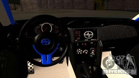 Scion FR-S для GTA San Andreas вид изнутри