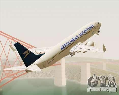 Boeing 737-800 Aerolineas Argentinas для GTA San Andreas вид изнутри