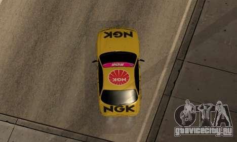 Nissan Silvia S14 NGK для GTA San Andreas вид сзади