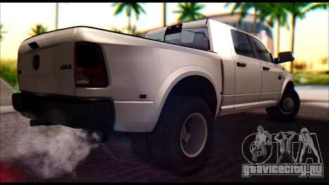 Dodge Ram 3500 Heavy Duty для GTA San Andreas вид сзади слева