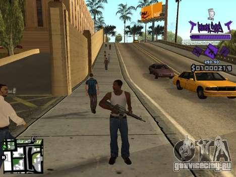 C-HUD Ballas для GTA San Andreas пятый скриншот