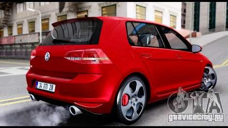 Volkswagen Golf GTI 2015 для GTA San Andreas вид слева