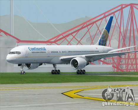 Boeing 757-200 Continental Airlines для GTA San Andreas вид справа