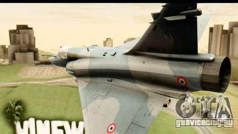 Dassault Mirage 2000-5 для GTA San Andreas вид изнутри