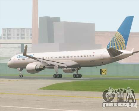 Boeing 757-200 Continental Airlines для GTA San Andreas вид сзади слева