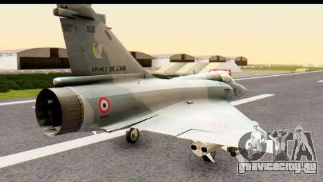 Dassault Mirage 2000-5 для GTA San Andreas вид слева