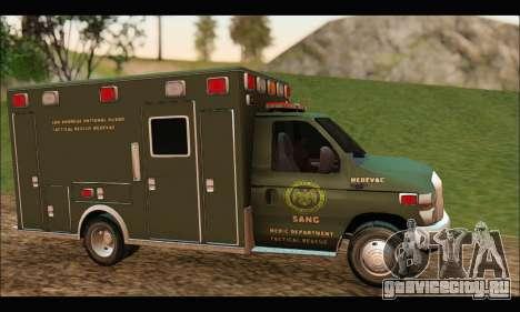 Ford E450 Ambulance SANG Tactical Rescue для GTA San Andreas вид слева
