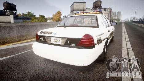 Ford Crown Victoria LCSO [ELS] Vision для GTA 4 вид сзади слева