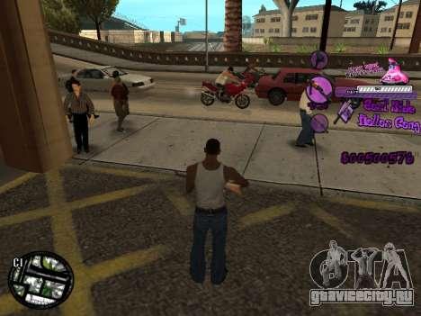 C-HUD Ballas для GTA San Andreas третий скриншот