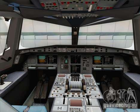Airbus A380-800 Emirates (A6-EDJ) для GTA San Andreas вид изнутри