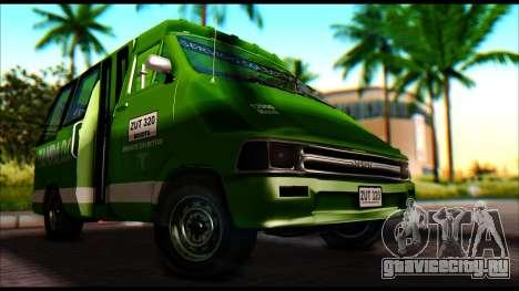 Toyota Microbus для GTA San Andreas вид справа