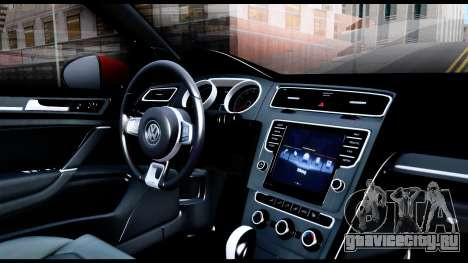 Volkswagen Golf GTI 2015 для GTA San Andreas вид изнутри